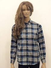 Markenlose Karierte Damenblusen,-Tops & -Shirts mit Klassischer Kragen und Baumwollmischung