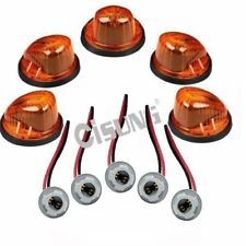 5x Base+Roof Cab Marker good Light Amber Lens/Cover for 73-87 Chevy K10/20/30