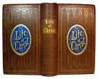 1861 Antique JESUS CHRIST God BIBLE CHRISTIAN Holy Land SAINTS Book ILLUSTRATED