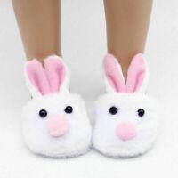 Fashion White Rabbit Shaped Doll Shoes Slipper For 18 Doll Inch Q6T8 U8S8