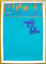 Luis Alonso XXIII Olimpiada Mundial Univ De Ajedrez Cartel Poster Puerto Rico 86