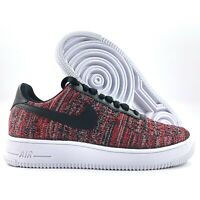Nike Air Force 1 Flyknit 2.0 University Red Black Grey CI0051-600 Men's 10.5-13