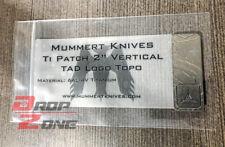 "New 2"" Vertical Titanium Patch Topo Logo Triple Aught Design PDW Mummert PDW"
