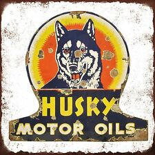 Husky Motor Oils High Quality Metal Magnet 4 x 4 inches 9363