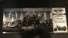 Rare-Call of Duty WWII promo poster banner 53x21 inches cardboard