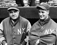 BABE RUTH LOU GEHRIG Photo Picture NEW YORK YANKEES Baseball Print #1 8x10 11x14