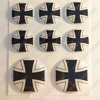 4 x Silikon Nabenkappen Deckel Aufkleber Iron Cross Eisernes Kreuz Emblem 54 mm