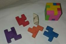 Cube Puzzle Eraser with extra pieces
