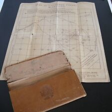 Vtg CHICKASAW COUNTY MISSISSIPPI Oil Gas Map Indian Head Leather Billfold Wallet