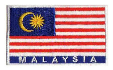 Patch patche thermocollant écusson Malaysia Malaisie 85x50mm
