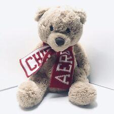 "Aeropostale Plush Teddy Bear Chill Aero Red Scarf Plush Stuffed Animal 17"""
