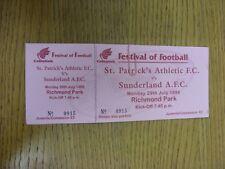 29/07/1996 Ticket: St Patricks Athletic v Sunderland [Festival Of Football] (com