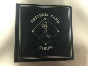 "CLEAN/USED 3"" BASEBALL BINDER BLUE W/90 ULTRA PRO PLATINUM P POCKET PAGES"