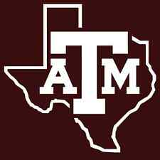 Texas A&M DECALS -2 CORNHOLE Board Decals Vinyl Sticker Decals -2 Free Circles