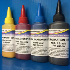 400 ml Sublimation Encre pour Epson Workforce WF 7210DTW 7710 DWF 7720 7720 DTWF