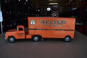 Antique Tonka Toy Truck w/ Trailer (Allied Van Lines) Full Metal Construction