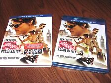 Mission Impossible - Rogue Nation (Blu-ray/DVD+Digital HD,2015) NEW; I Ship Fast