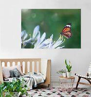 3D Blume Schmetterling M02 Tier Wandaufkleber Wandtattoo Tapeten Wandbild An