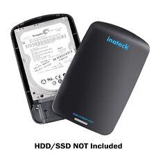 """Inateck External 2.5"""" USB 3.0 Hard Drive Enclosure SATA HDD and SSD Case BOX LED"""
