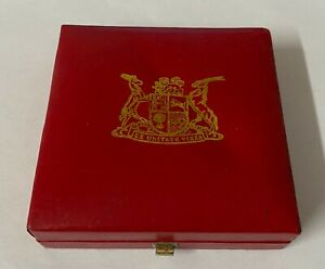 South African Mint Red Presentation Box for a Krugerrand
