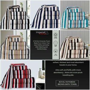 Limited Edition Royal Victorian Stripe 100% Pure Cotton, 550 GSM Towel Range