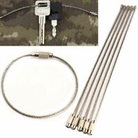 5PCS Stainless Steel Wire Keychain Cable Key Ring Chains For Outdoor Hiking Tool