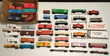 HO TRAIN LOT  = TYCO = NEW & USED GROUP WITH PARTS BOX = PASS-TANKER-FREIGHT