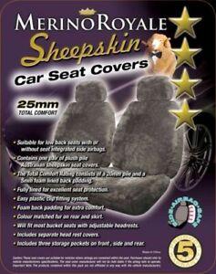 Sheepskin Car Seat Covers Isuzu MUX , Seat Airbag Safe, Five Colours. 25mm TC