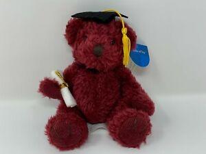 Russ Graduation Halls of Ivy Super Scholar Burgundy Bear w/Diploma & Cap NOS #15