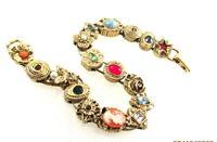 Vintage Goldette Slide Bracelet Victorian Revival Custom 8.5 Inch