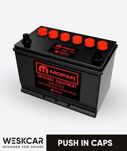 Mopar Battery S27M red (1966-74) Push in Caps kit
