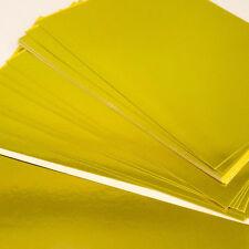 Foil (Shiny) card A4 Gold X 20 sheets - (29cm x 21cm); Metallic