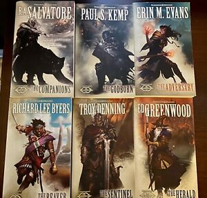 Complete 6 book paperback set- Forgotten Realms The Sundering , Drizzt D&D Lot