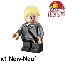 Lego Figurine Minifig Harry Potter Draco Malfoy + Baguette Wand hp148 75954 New