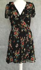 ASOS Ladies Black Floral Cocktail Dress Size 10