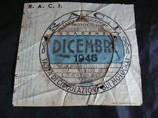 BOLLO 1946 TASSA DI CIRCOLAZIONE RACI VESPA 98 ORIGINALE MOTO GUZZI GILERA