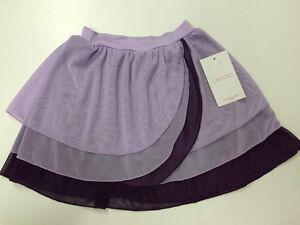 capezio limited edition kyla pull on purple dance skirt size child x large 14-16