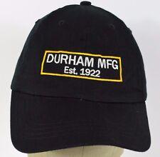 ae37bedd9f1 Black Durham MFG Est 1922 embroidered baseball hat cap adjustable
