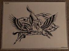 Collectible Vintage Don Nolan B & W Tattoo Design Back Piece Spaulding & Rogers