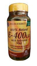 Holland & Berrett Natural Vitamin E 400 IU with Selenium 100 softgel Capsules
