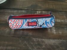 Vera Bradley Round Seaside Case Pouch Red And Blue