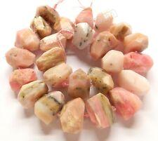 Semi Precious Stone Machine Cut Center Drilled Nugget Beads