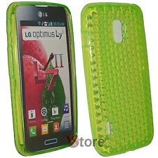 Cover Custodia Per LG L7 II 2 Optimus P710 Verde Silicone Gel TPU + Pellicola