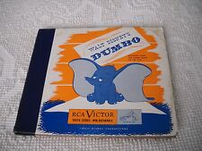 Three 78 Lp's Walt Disney's Dumbo Record Albums Rca Victor Non-Breakable Rare