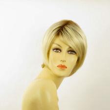 Perruque femme courte méchée blond racine blond foncé ALINE YS