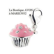 Cake Gateau CHARM breloque Bracelet argenté AVON NEUF