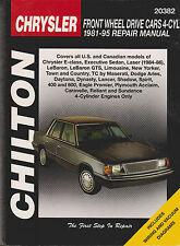 1981-1995 Chilton Chrysler Front Wheel Drive Cars 4-Cyl Repair Manual