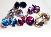 Regular Round Bella Women Crystal Earrings Made with SWAROVSKI® Crystals