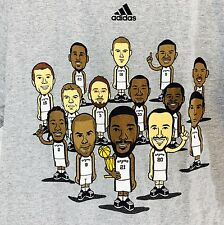 Adidas Small NBA San Antonio Spurs Cartoon Championship T Shirt Top f