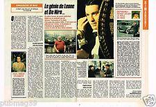 Coupure de presse Clipping 1989 (1 page 1/2) Génie de Leone et De Niro